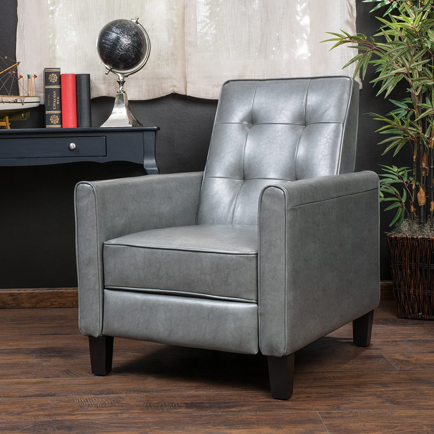 Amazon Denise Austin Home Elan Tufted Bonded Leather Recliner