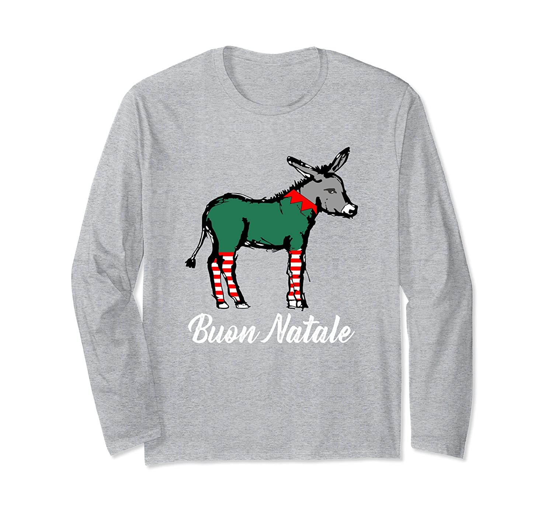 Amazon.com: Buon Natale Italian Christmas Donkey T Shirt: Clothing