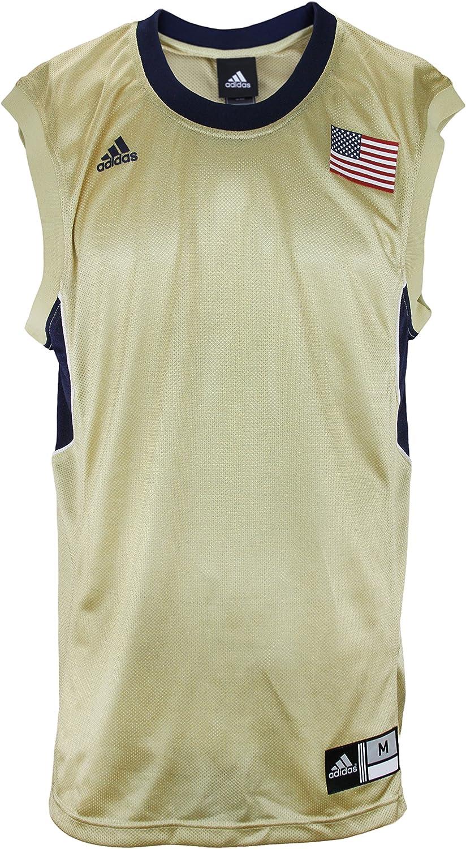 página tal vez ajo  Amazon.com : adidas Men's Blank Basketball Jersey with USA Flag, Gold-Navy  Pittsburgh Pitts : Clothing