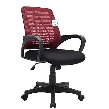 Cherry Tree Furniture Mesh Fabric Padded Swivel Office Chair