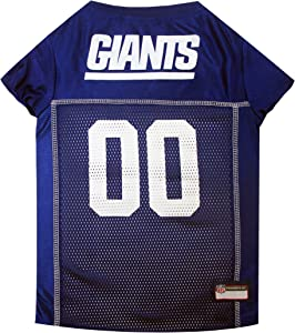 NFL NEW YORK GIANTS DOG Jersey, X-Small Shirt Apparel Jersey Cute Outfit for DOGS or CATS & Small Animals
