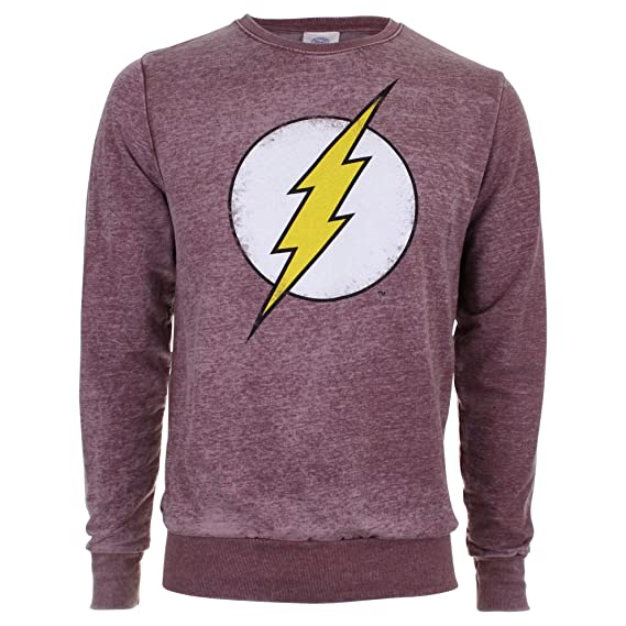 DC Comics Hombre Distressed Flash Logo Burnout Sudadera Not Applicable, Rojo (Burgundy Blue), XX-Large: Amazon.es: Ropa y accesorios
