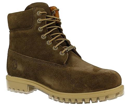 Timberland A18PZ Icon 6-inch Premium Boot Dark Olive Silk Suede, Botines con cordones para hombre, 45: Amazon.es: Zapatos y complementos