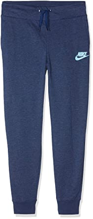 7e10e7171b307 Amazon.com: Nike Girls Youth Fleece Sweat Pants Size S, M, L (Blue ...