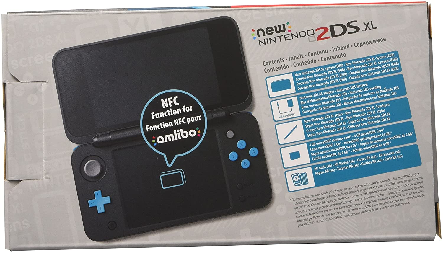 Nintendo 3Ds - Consola New Nintendo 2Ds XL, Color Negro y ...