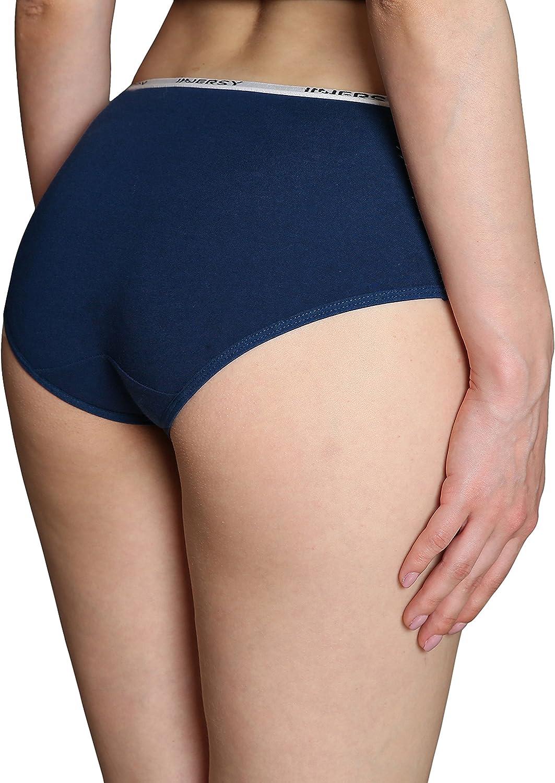 INNERSY Unterhosen Damen Baumwolle Slips Mehrpack Hipster Bequeme Unterw/äsche 6er Pack