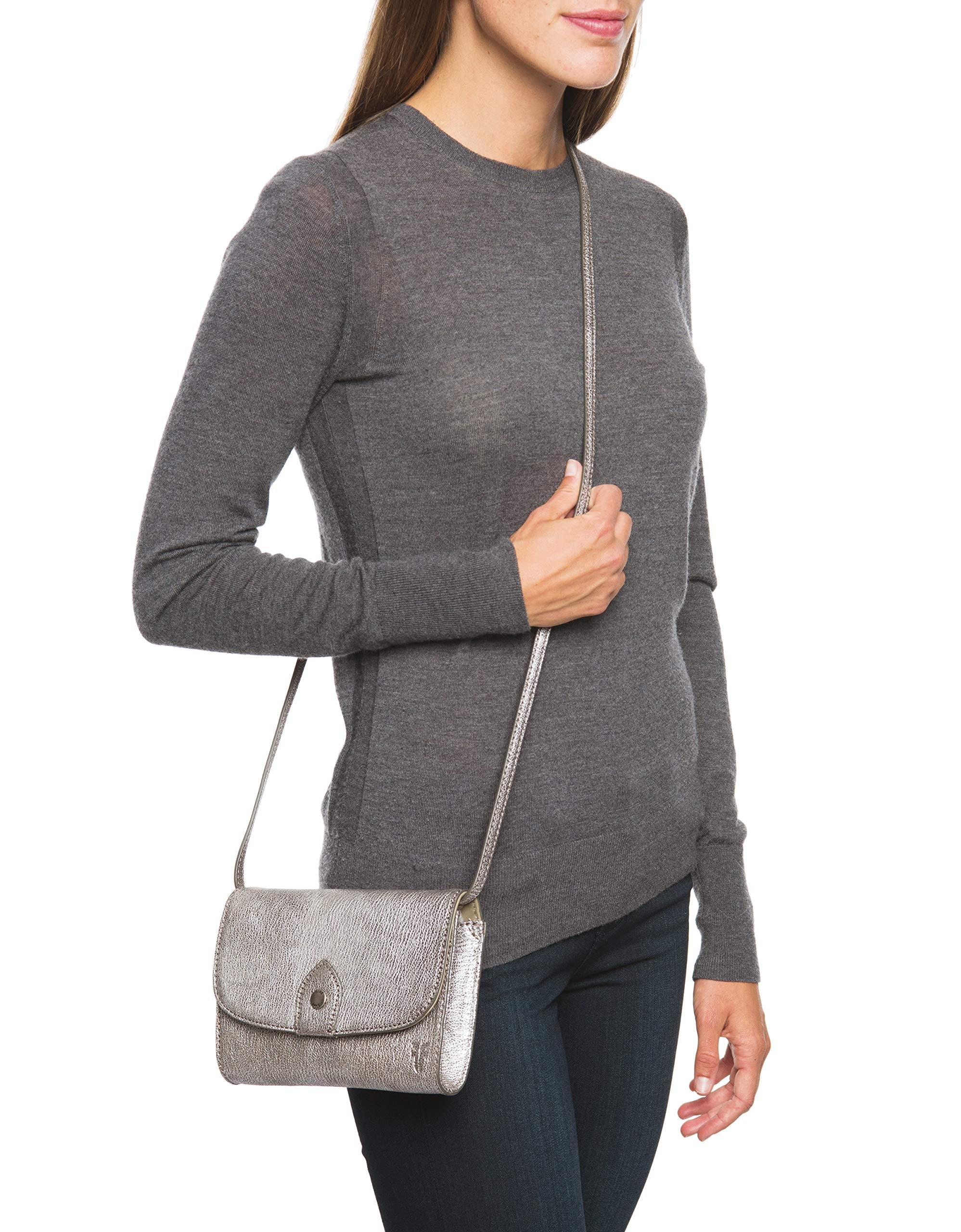 FRYE Melissa Wallet Crossbody Clutch Leather Bag, silver by FRYE (Image #6)