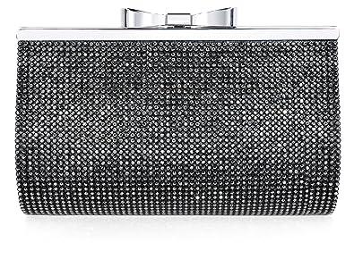 Luxury Crystal Clutch Women Rhinestone Evening Bag Black  Handbags ... eeb36bdcbd54f