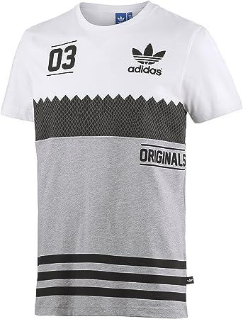 adidas Serrated Tee Herren T Shirt XXL WeißGrauSchwarz