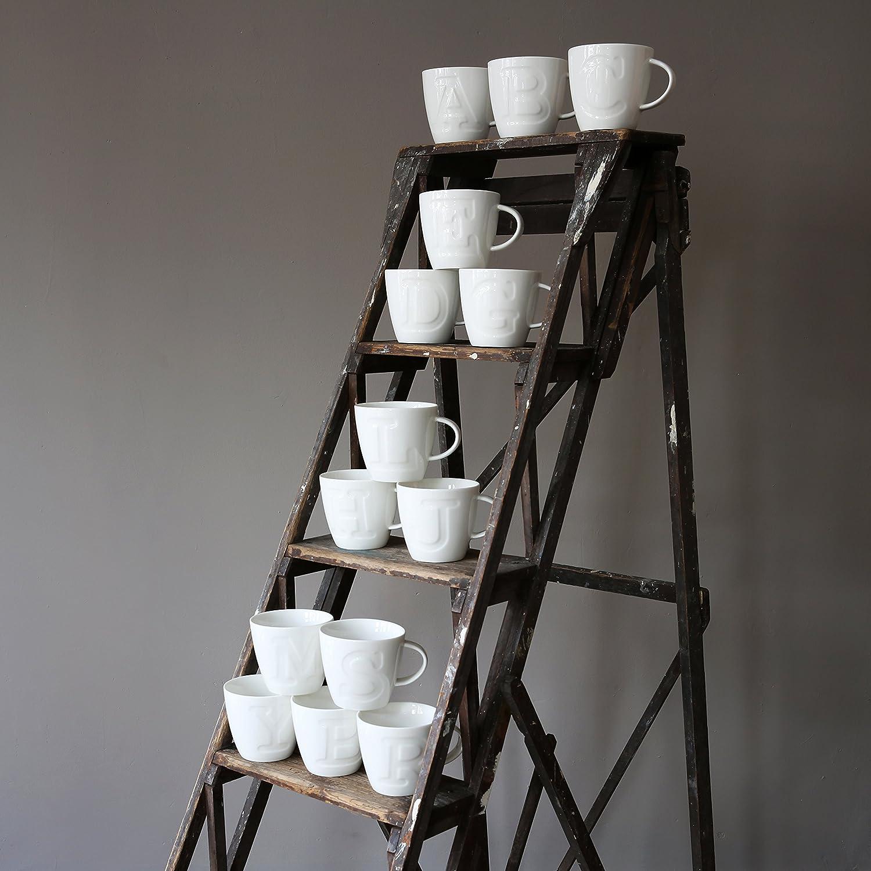 Make International Alphabet Mug Tazza Lettera a Porcellana 13 x 10.1 x 9 cm Bianco