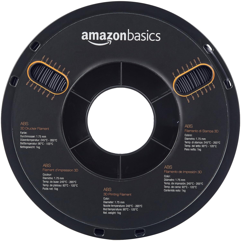 AmazonBasics – Filamento de ABS para impresora 3D, 1,75 mm, Negro ...