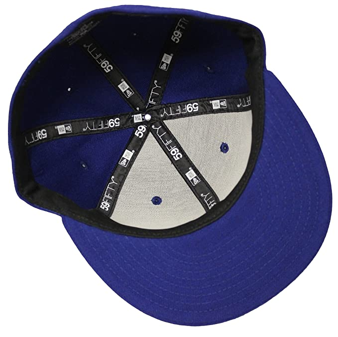 34c31c48521 New Era 59Fifty Solid Royal Blue Blank Fitted Cap (7 7 8) at Amazon Men s  Clothing store