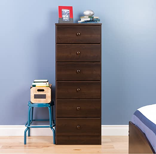 Amazon Com Prepac Astrid 6 Drawer Tall Chest Espresso Furniture Decor