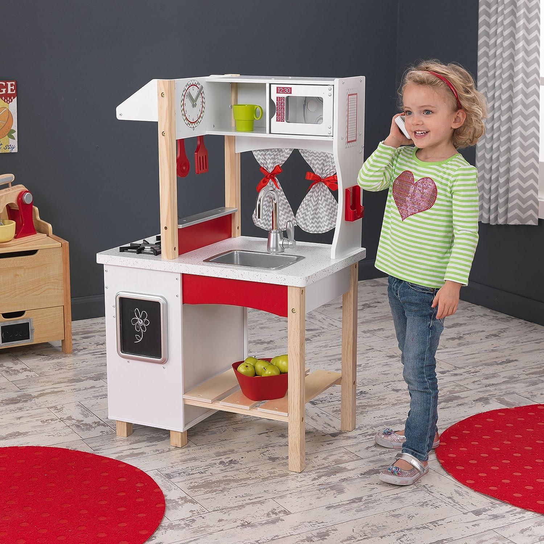 Amazon Com Kidkraft Modern Island Kitchen Toys Games