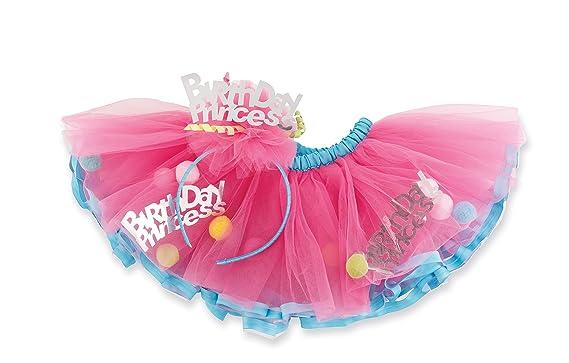 Mud Pie Baby Girls Birthday Princess Tutu And Headband Set One Size