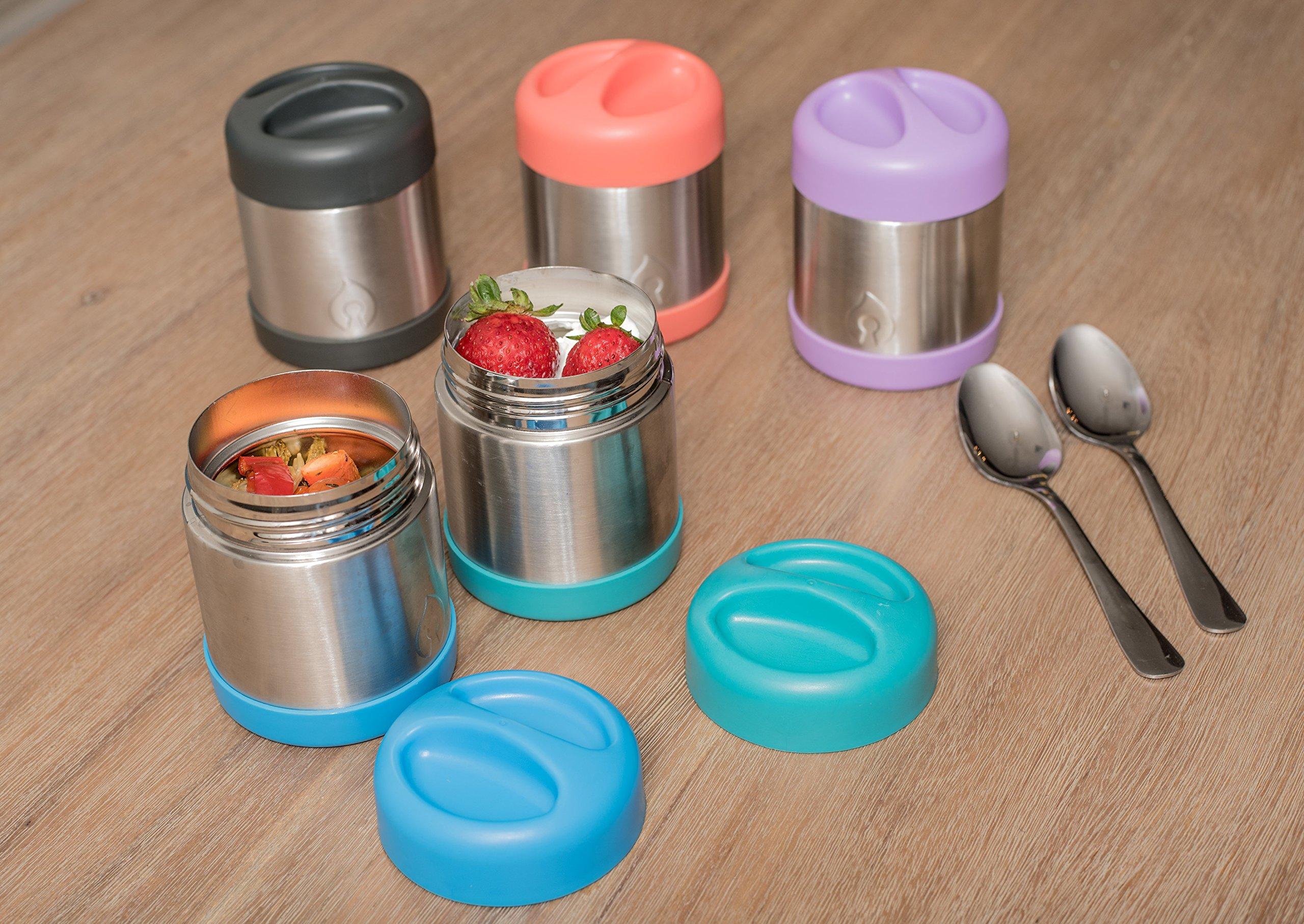 FIREKI 10 oz Food Canister | Vacuum Insulated Food Jar (Lime Green)