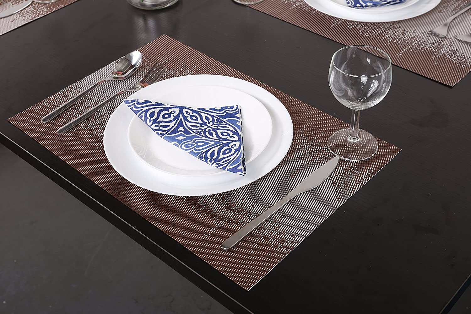 SICOHOME Soft Placemat,Blue,Set of 6