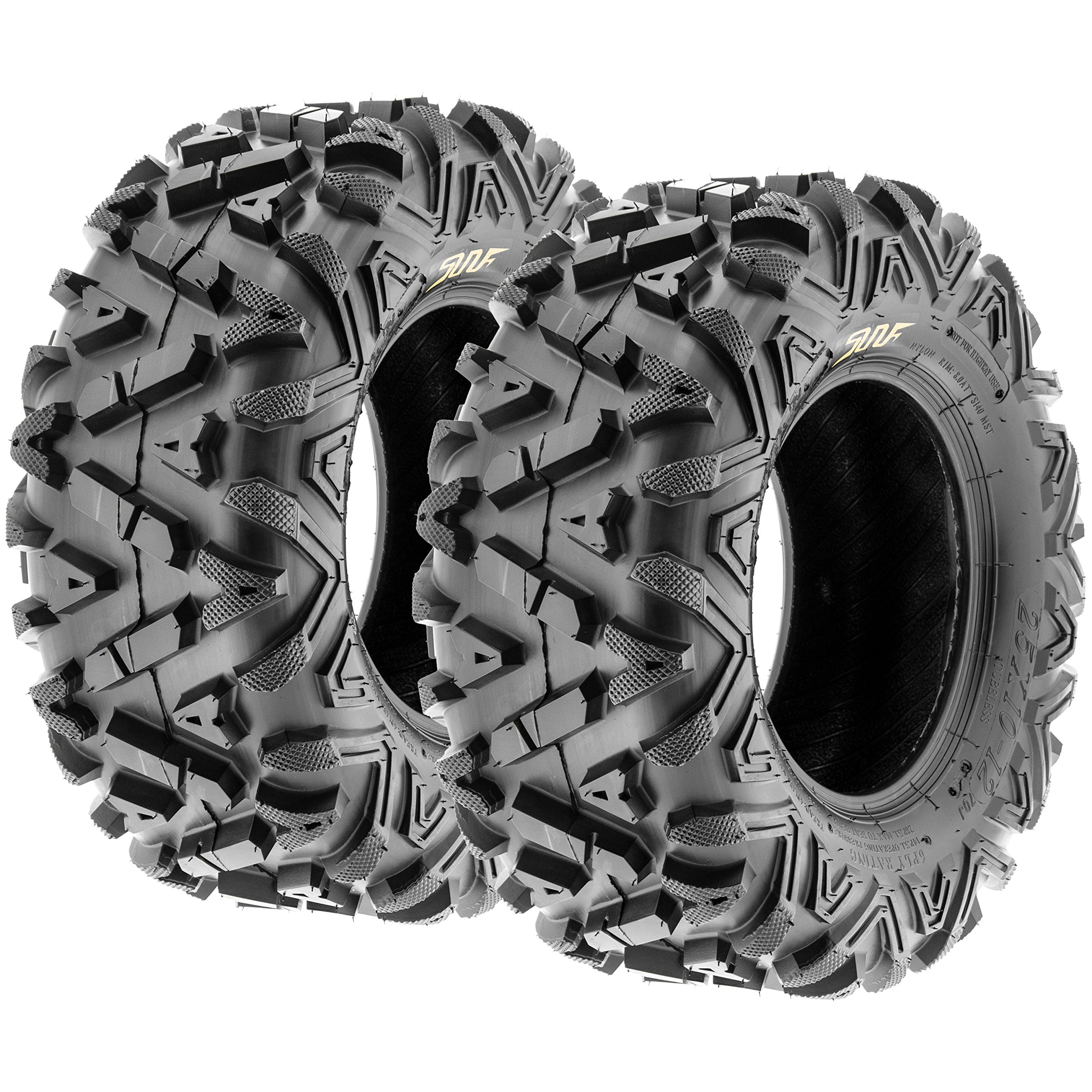 Pair of 2 SunF A033 Power.I AT 25x10-11 ATV UTV Off-Road Tires, All-Terrain, 6 PR, Tubeless by SUNF (Image #1)