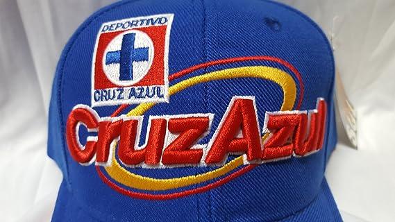 Amazon.com : FMF New Club Deportivo Cruz Azul Gorra Azul Bordada : Sports & Outdoors