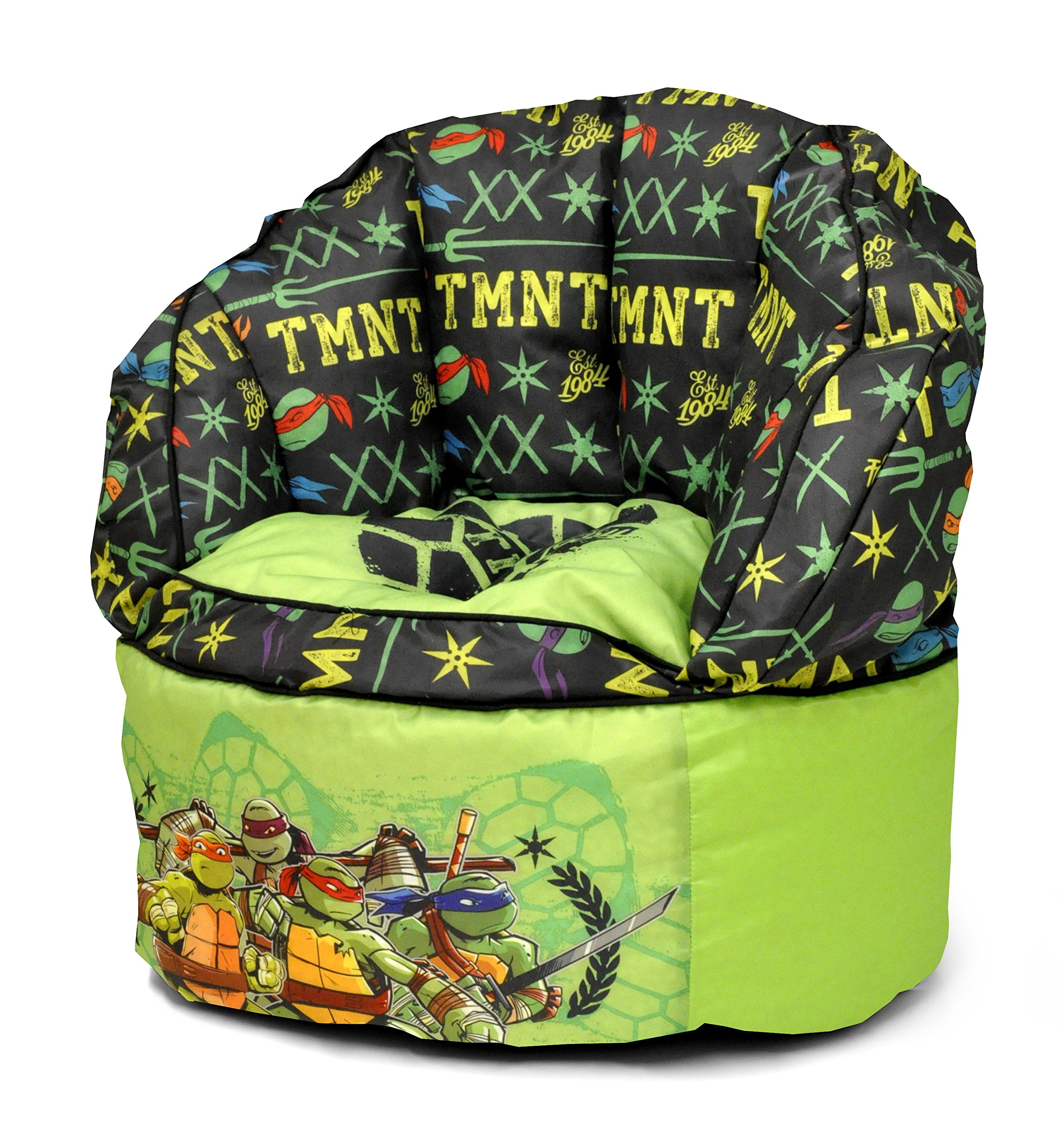Nickelodeon Teenage Mutant Ninja Turtles Toddler Bean Bag Chair, Green,
