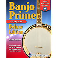 Banjo Primer Book For Beginners Deluxe Edition (Audio & Video Access) book cover