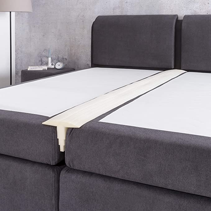 Lumaland Premium banda para unir colchones Puente de cama doble 200x25cm Cuña Blanco: Amazon.es: Bebé