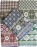 TEXTILEKART SOLAPUR CHADDAR / BLANKET / CARPET / GALICHA IN PURE COTTON (Long Durability, Fast Colors, Both Side Usable) 1 Pcs Blanket