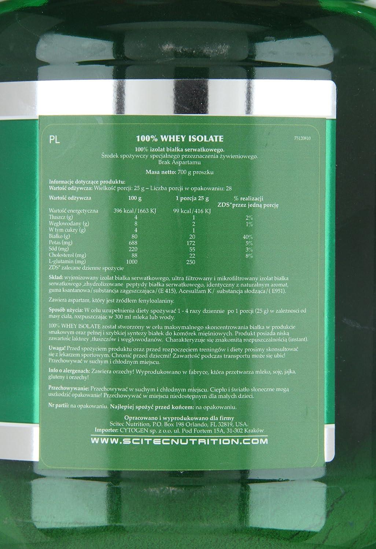 Scitec Nutrition Whey Isolate chocolate 700 g: Amazon.es: Salud y cuidado personal