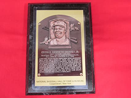 48f160dc57 Image Unavailable. Image not available for. Color: Ken Griffey Jr 2016 Hall  of Fame Induction Postcard Plaque ...