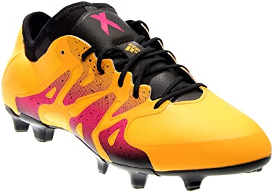 fa94b3d1a57e adidas Men's X 15.1 FG/AG Gold/Black/Shock Pink Athletic Shoe