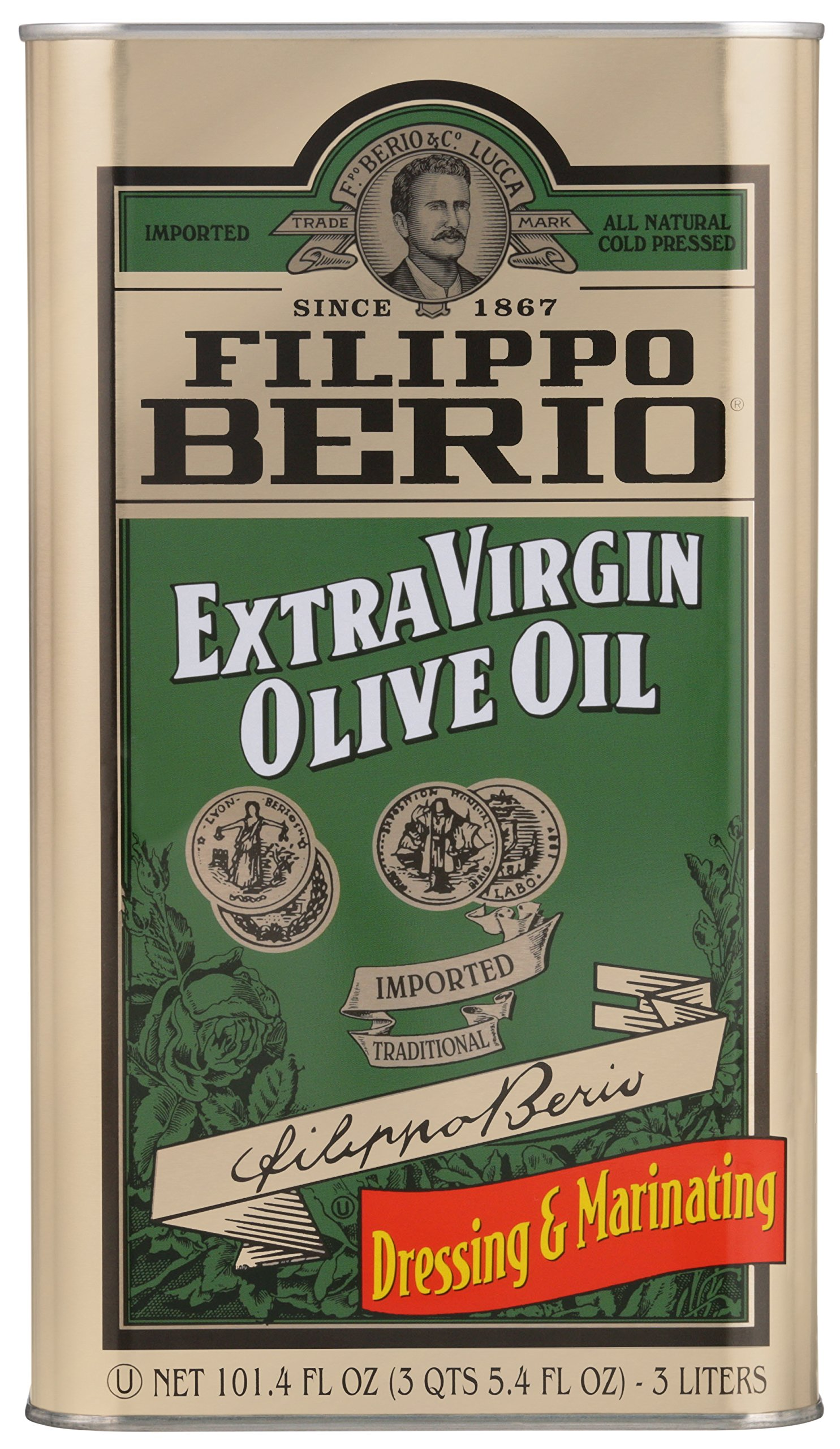 Filippo Berio Extra Virgin Olive Oil, 101.4 Ounce by Filippo Berio