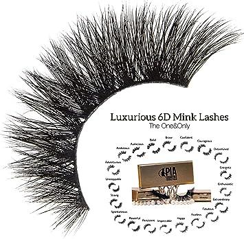 9fe56cb48ee 6D Mink False Eyelashes - 100% Handmade False Lashes Non-Irritating Eyelash  Strips -