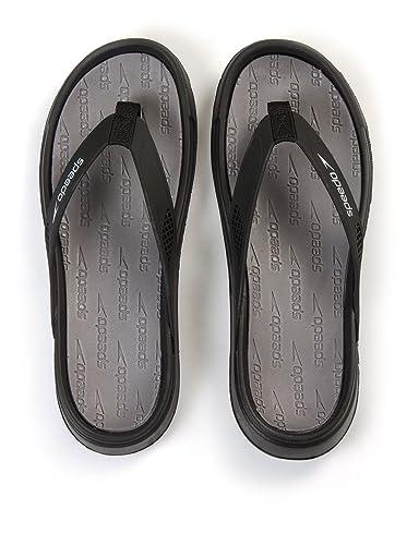 81a75868b553 Speedo Men's Shirahama Thong Sandal - Size 10, Black/Grey/White ...
