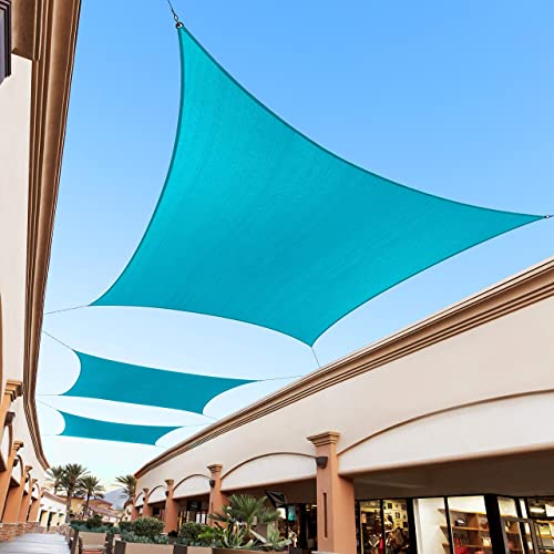 Royal Shade 21' x 22' Turquoise Custom Size Order to Make Sun Shade Sail RTAPR0810 Canopy Mesh UV Block Rectangle