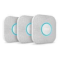 Nest Protect Smoke + Carbon Monoxide Alarm, (Battery), Set of 3