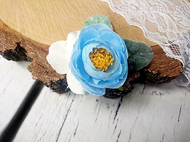 Amazon pastel blue white greenery small hair pin silk flowers pastel blue white greenery small hair pin silk flowers ranunculus dusty miller bridal accessory mightylinksfo