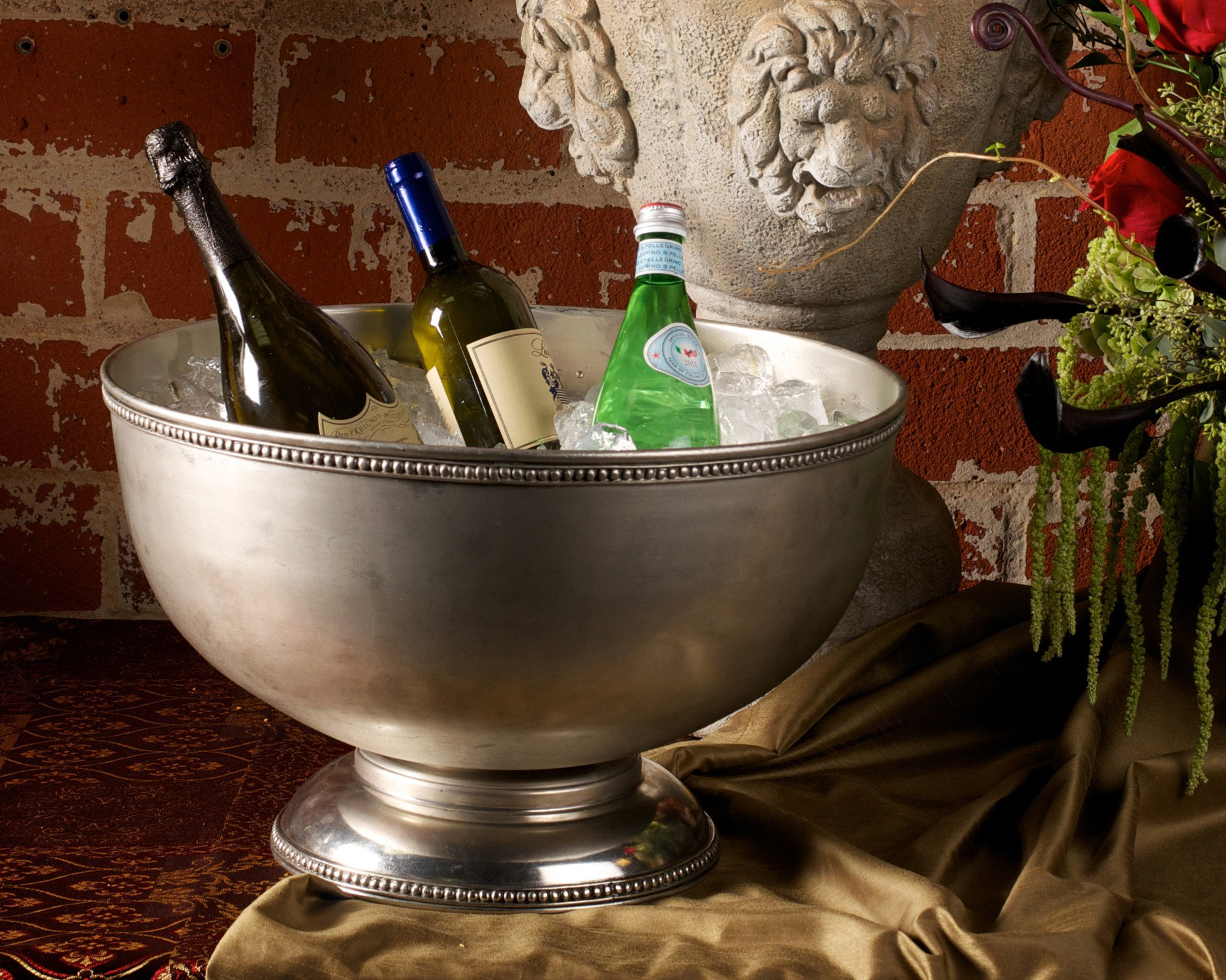 Vagabond House Pewter Medici Bead Ice Tub/Punch Bowl 18.5'' Wide x 11'' Tall by Vagabond House (Image #2)