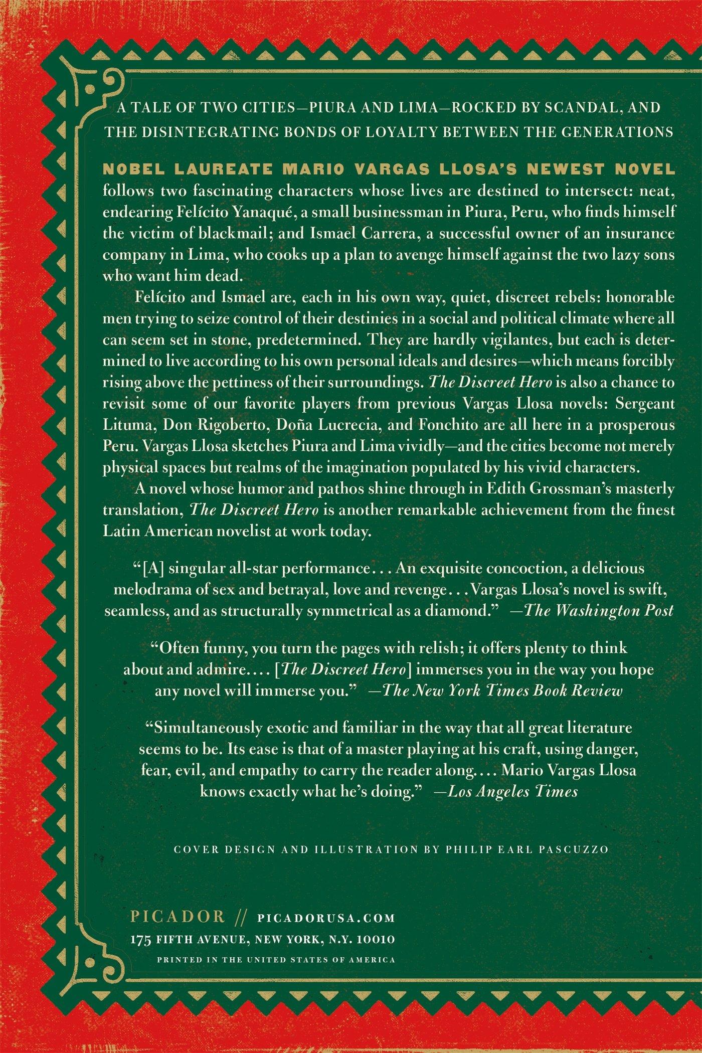 The Discreet Hero: A Novel: Mario Vargas Llosa, Edith Grossman:  9781250081629: Amazon: Books