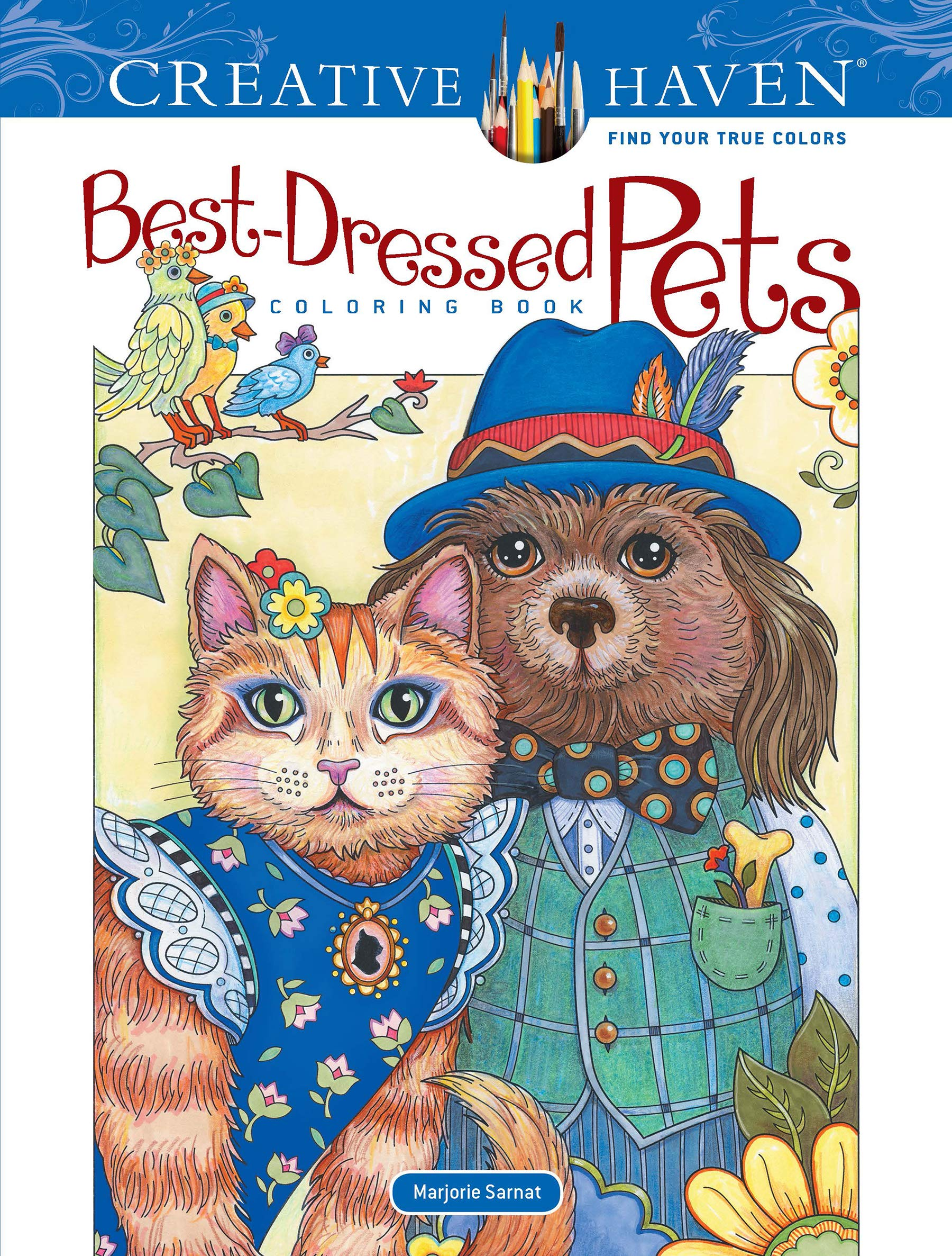 - Amazon.com: Creative Haven Best-Dressed Pets Coloring Book