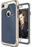 iPhone 7 case, SGM Premium Hybrid [Dual Layer] Armor Case Cover For Apple iPhone 7 [Anti-Slip Design] [Shock Proof] (Dark Blue + Gold)