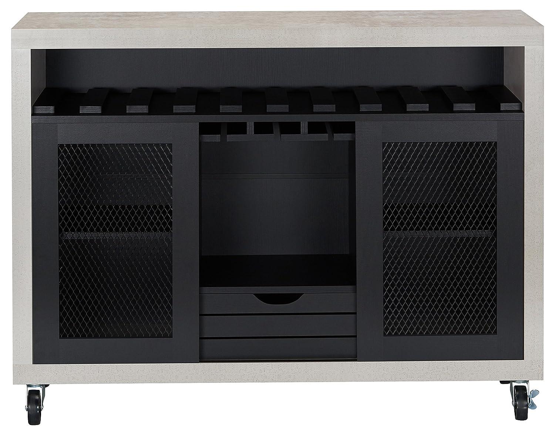 b5268eba39f3a HOMES: Inside + Out FGI-1774C1 Vesta Buffet Server, Black/Cement