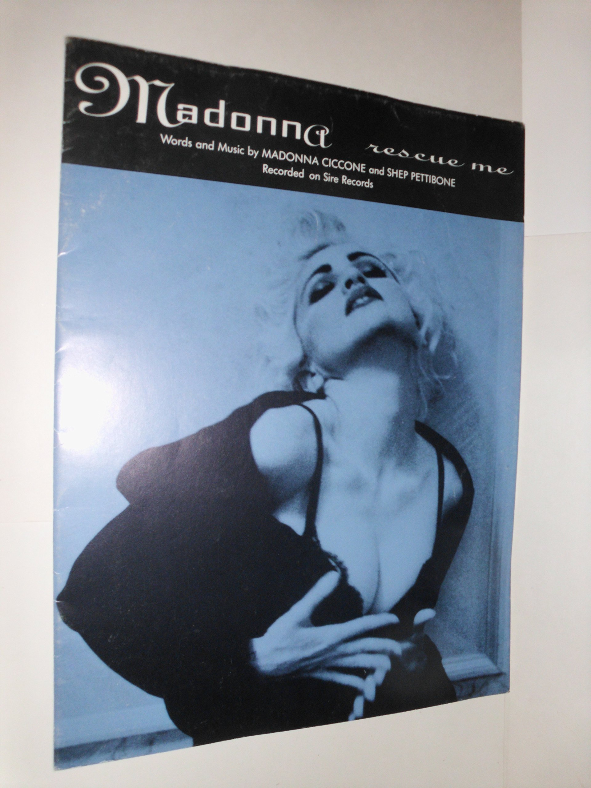 rescue me madonna 1990 piano vocal sheet music