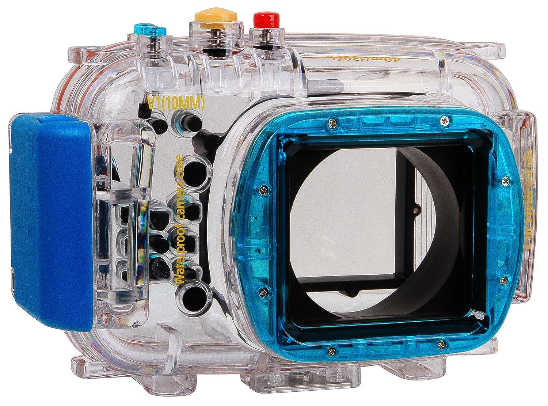 Polaroid Carcasa estanca subacuática Apta para Buceo para cámaras Digitales Nikon V1 con Lente de 10 mm