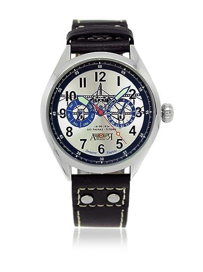 AVIADOR Reloj con movimiento japonés AV-1025 42 millimeters: Amazon.es: Relojes
