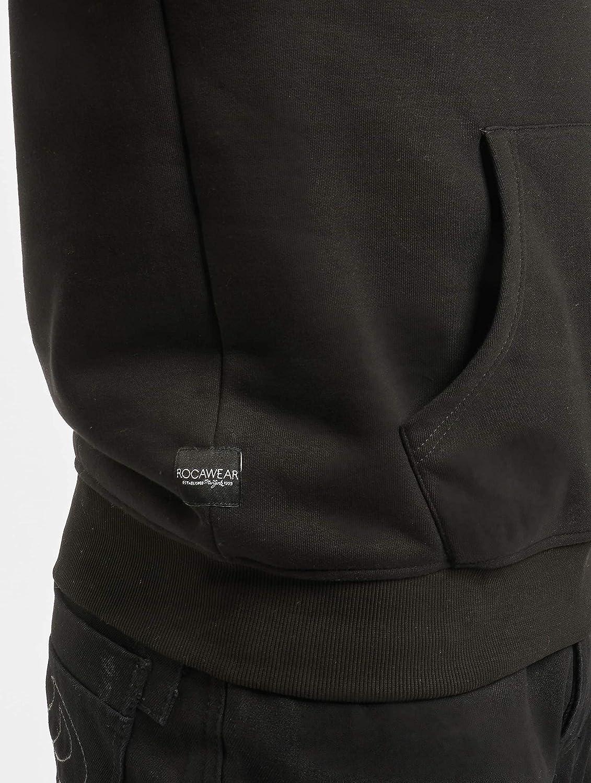 Rocawear M/änner Hoody Raglan in schwarz