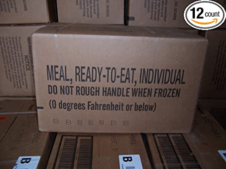 MRE MEALS MILITARY Case B READY TO EAT 2/2015 Fresh! meals 13-24 FACTORY SEALED