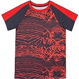 New Balance Little Boys' Short Sleeve Performance Tee, Gray/Electric, 5