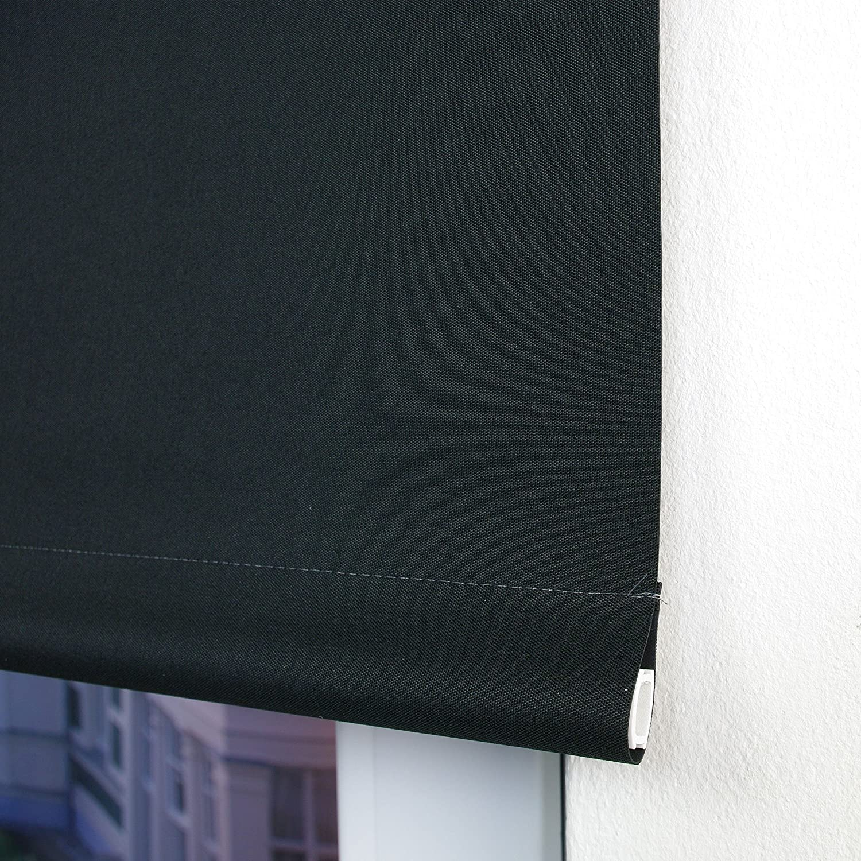 Verdunkelungsrollo Springrollo Mittelzugrollo 13 Farben klemmfix Rollo Rollo Rollo ohne Bohren Breite 62-202 cm Höhe 180 cm Fenster Vorhang blickdicht verdunkelnd klemmbar Klemmträger (132 x 180 cm   Dunkelgrau) B078WRC5VX Seitenzug- & Springrollos 87dfcf