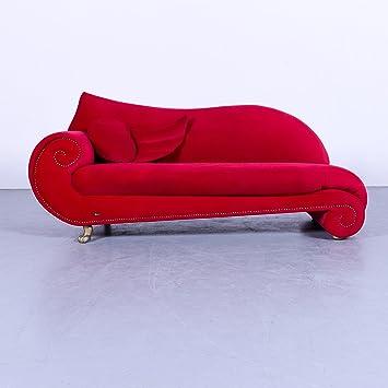Amazon De Bretz Gaudi Designer Sofa Rot Velours Stoff Dreisitzer
