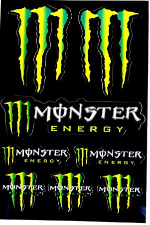 Monster Energy Sheet Of 8 Large Stickers 45 X 30 Cm